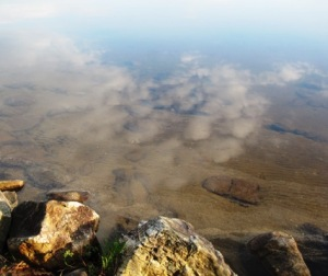 Jewell Lake - clear, with reflections of clouds